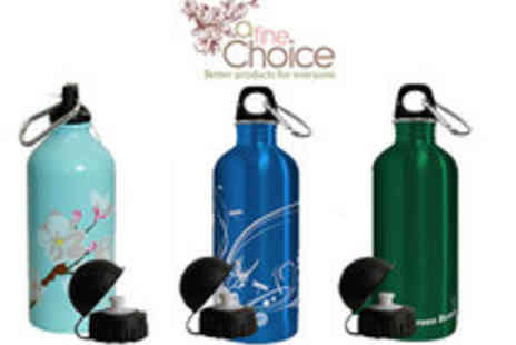 A Fine Choice - Stainless Steel Water Bottles available in 7 Different Designs - Save 41%