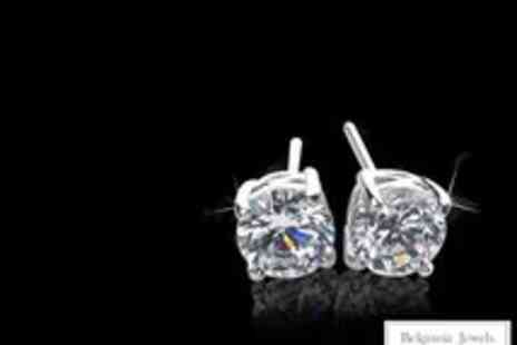 Belgravia Jewels - Solitaire Stud Earrings Made With Swarovski Elements - Save 88%