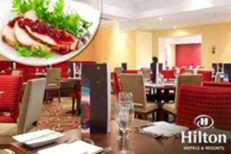 Hilton Leicester - Festive Lunch Two Course Meal Plus Wine For Two - Save 24%