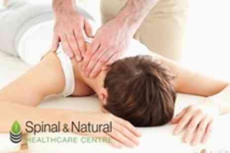 Spinal and Natural Healthcare - Spinal Therapy Consultation, Review of Findings and Four Follow Up Treatments Plus Health Class - Save 83%