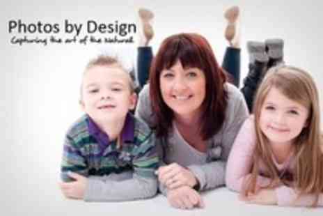 Photos by Design - Family or Couple Photo Shoot With Five Digital Images and Two Prints - Save 94%