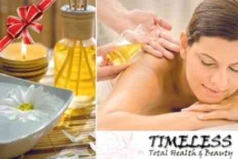 Timeless Beauty - One Hour Massage with Hot Oils and Jessica Manicure - Save 63%