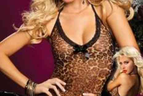Be Flame - Beautiful Leopard print camisole and knickers 2 piece set - Save 46%