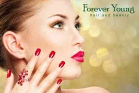 Forever Young - Pamper Package With Shellac Nails With Up Do Hair Plus Lash Extensions - Save 67%
