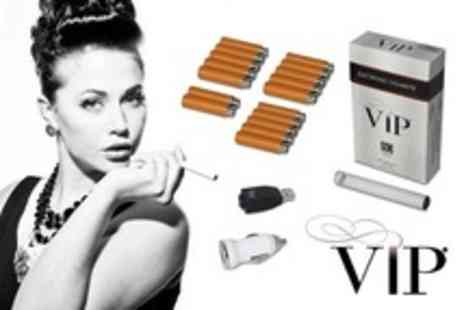 VIP - E Cigarette Starter Kit With 17 Cartomizer Refills - Save 59%