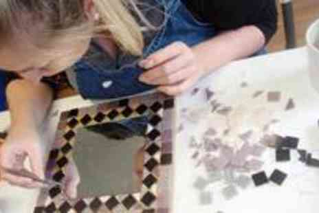 The Creative Space Studio - Three hour mirror frame mosaic class - Save 76%