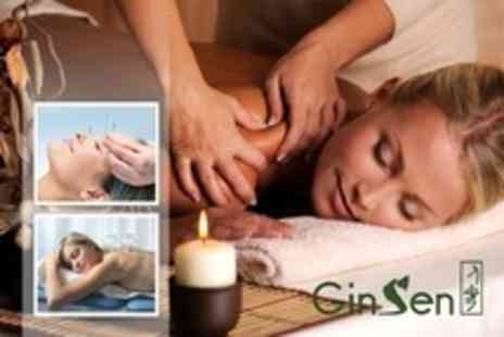 GinSen - Chinese Massage Plus Acupuncture or Cupping Treatment - Save 76%