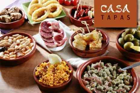 Casa Tapas - Spanish Meal For Two With Six Tapas, Bottle of House Wine, And Tea or Coffee - Save 60%