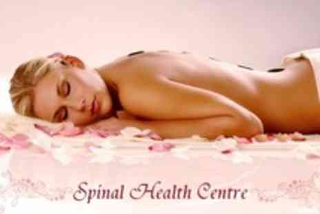 The Spinal Health Centre - 30 Minute Indian Head Massage Including Hot Stone - Save 50%