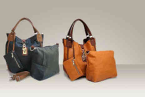 A-Shu - A 4 piece faux leather tote handbag set in a choice of colours - Save 60%