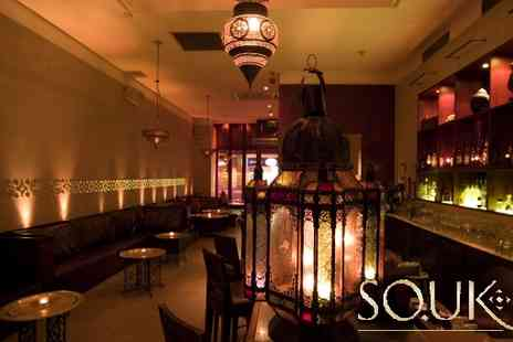 SOUK - 2 cocktails & a 2 course meal, Have a few drinks after work or party the night away - Save 62%