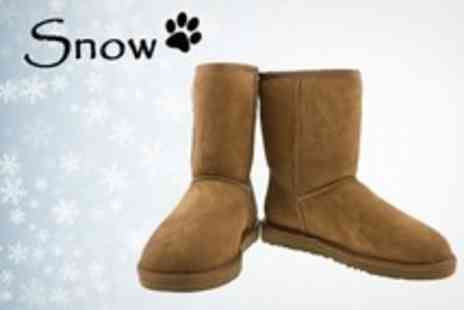 Snow Paw Boots - Ladies Sheepskin Snow Boots With Choice of Styles - Save 70%