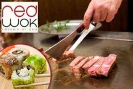 Red Wok - Three Course Asian Teppanyaki Buffet For Two - Save 35%