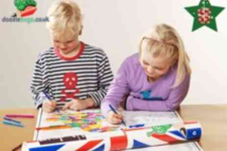 Doodlebugz - Colour In Historic Map of UK & Ireland with 20 Pens - Save 50%