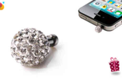 Gift Me Something Special - Crystal Phone Accessory with Velvet Pouch - Save 73%