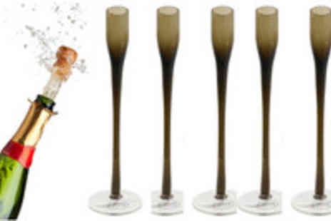 www.clicktoget.co.uk - Set of 6 Colony Champagne Flutes - Save 49%