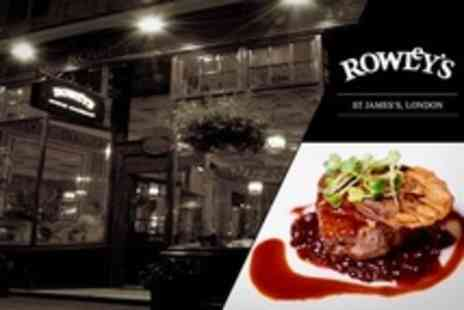 Rowleys - Chateaubriand Steak Meal With Wine For Two - Save 52%