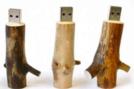 Naked - Hand Crafted Wooden 8GB USB Drive - Save 74%