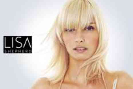 Lisa Shepherd - Half head of highlights or a full head of colour plus a cut, style and blow dry with a drink on arrival - Save 75%