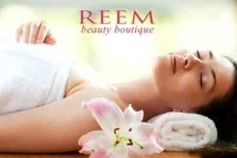Reem Beauty Boutique - Pamper Package Including Shellac Manicure and Delux Facial - Save 64%