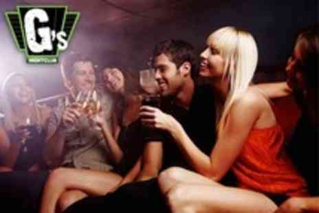 Gs and Vinyl Nightclub - Nightclub Entry For Eight With Prosecco Plus Booth Seating - Save 80%