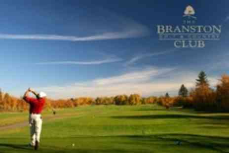 The Branston Golf and Country Club - Nine Holes For Two With 30 Range Balls Each - Save 60%