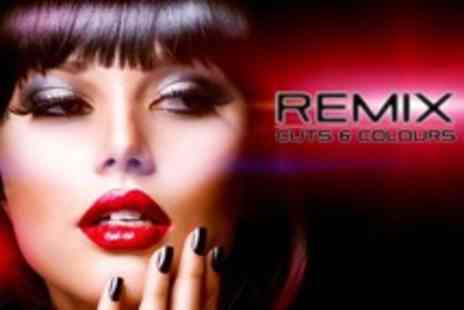 Remix Cuts and Colours - Gelish Manicure Plus Restyle Cut, Blow Dry and Treatment Such as Keratin or Argan Oil - Save 71%