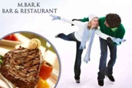 M.Bar.K Bar and Restaurant - Skate And Steak Ice Skating And Mulled Wine with Mussels and Steak Dinner Plus Coffee For Two - Save 53%