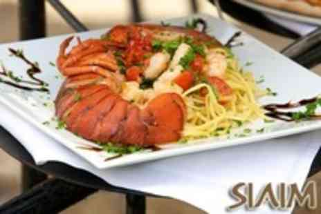 Siaim - Lobster or Sirloin Steak Meal For Two - Save 53%