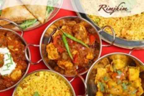 Rimjhim - Two Course Indian Meal For Two With Rice - Save 61%