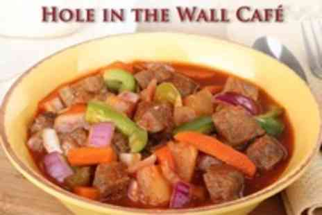 Hole in the Wall Cafe - Scouse With Crusty Roll and Drink For Two People - Save 40%
