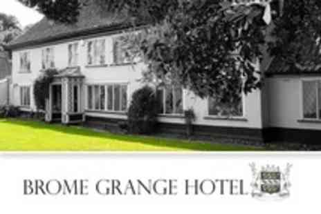 Brome Grange Hotel -  One Night stay For Two With Breakfast and Prosecco - Save 25%