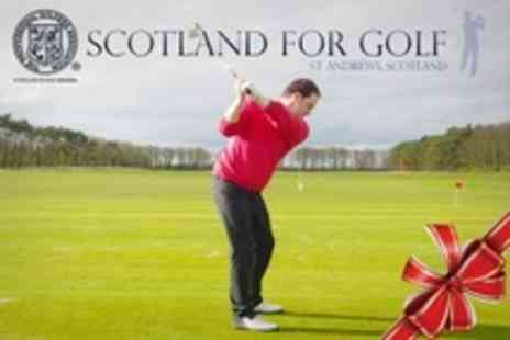 Scotland For Golf - St Andrews Golf Experience With PGA Professional - Save 68%
