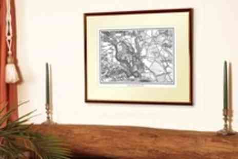 Cassini Maps - Personalised Framed Vintage Map - Save 50%