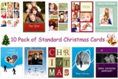 MyMemory.com - 10 Pack of Standard Christmas Cards - Save 50%