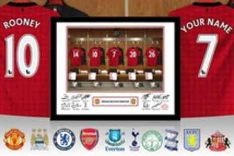 Personalised Football Gifts - Personalised Framed Football Dressing Room Photos - Save 60%