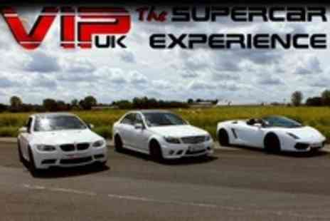 VIP UK Experience Days - Three Laps in Three Cars Such as Ferrari, Lamborghini and Porsche - Save 34%