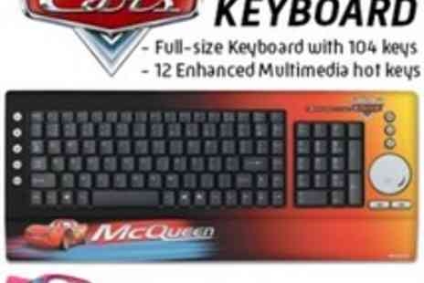 Disney Cars - USB Keyboard A stylish Disney design will look great next to any PC - Save 7%