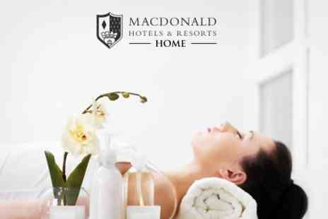 Macdonald Cardrona Hotel - Spa Package with Two 30 Minute Decleor Treatments, Robe Hire, Lunch, and Leisure Facility Access - Save 64%