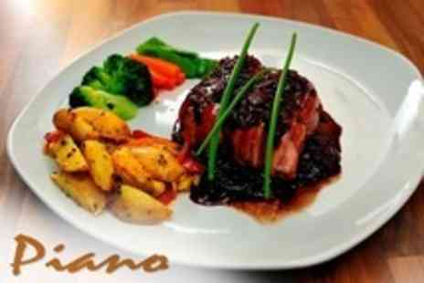Cafe Piano - Two Course Meal With Appetiser Each For Two - Save 59%