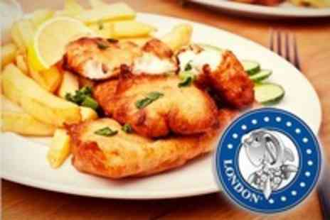 London Fish and Chips - Two Portions of Fish and Chips Plus Two Soft Drinks - Save 58%