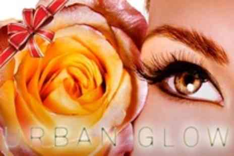 Urban Glow - Eyelash Extensions With Eyebrow Shape and Tint - Save 31%