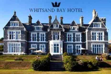 Whitsand Bay Hotel - In Cornwall Two Night Stay For Two With Bottle of Wine and Breakfast - Save 29%