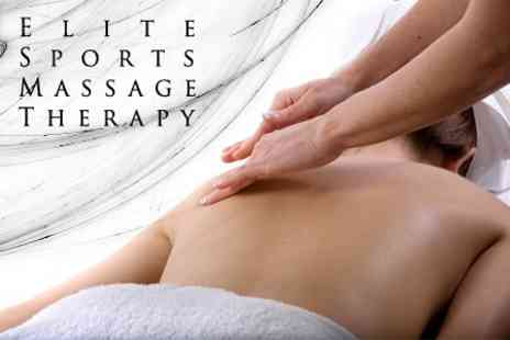 Elite Sports Massage Therapy - Sports Massage on Any Problem Area Plus Consultation - Save 60%