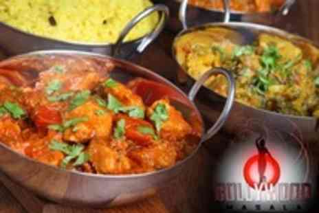 Bollywood Masala - Two Course Meal With Wine or Beer For Two - Save 60%