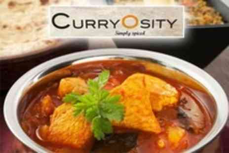 Curryosity - Three Course Punjabi Meal With Sides and Coffee For Two - Save 59%