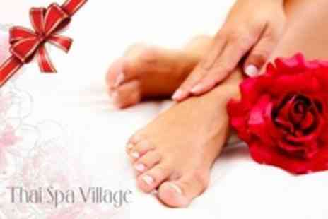 Thai Spa Village - Manicure and Pedicure With OPI Polish - Save 24%