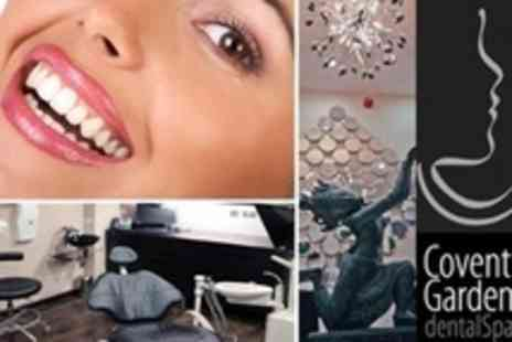 Covent Garden Dental Spa - Teeth Clean Deluxe Diamond Sparkle Stain Removal Air Flow Session - Save 64%