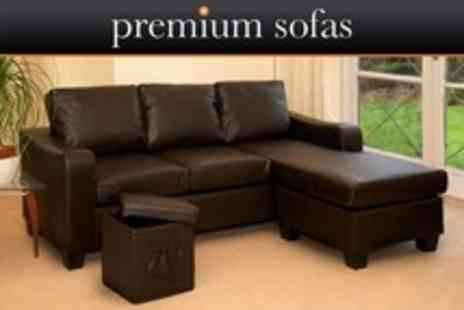 Premium Sofas - Devonshire Corner Sofa and Stool - Save 73%