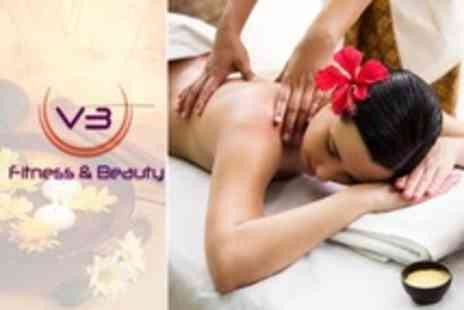 V3 Fitness and Beauty - Facial With Back, Neck and Shoulder Massage  - Save 50%